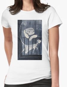 The boy and his cat Womens Fitted T-Shirt