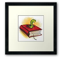 clever worm Framed Print