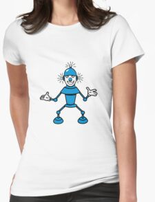 Robot funny cool light up comic fun Womens Fitted T-Shirt