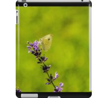 Small White Butterfly On Lavender iPad Case/Skin