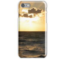 sunset on the sea iPhone Case/Skin