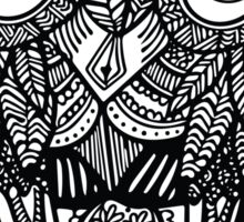 Owl Zentangle Sticker