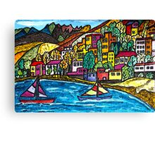 Swiss Block With Colorful Lots Canvas Print