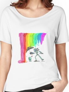 Robo Rainbow Respite Women's Relaxed Fit T-Shirt