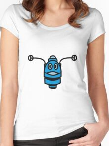 Funny cool robot head funny comic Women's Fitted Scoop T-Shirt