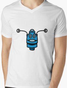 Funny cool robot head funny comic Mens V-Neck T-Shirt