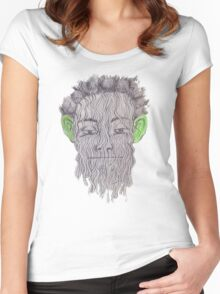 True Detective - 'Green Eared Spaghetti Monster' Women's Fitted Scoop T-Shirt