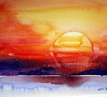 Pacific sunset #1 by jyoti kumar