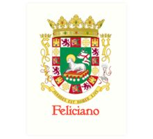 Feliciano Shield of Puerto Rico Art Print