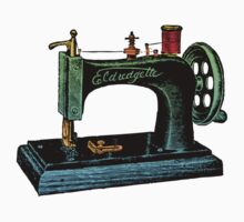 Vintage Sewing Machine Illustration by House Of Flo