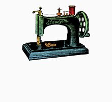 Vintage Sewing Machine Illustration Womens Fitted T-Shirt