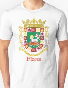 Flores Shield of Puerto Rico T-Shirt