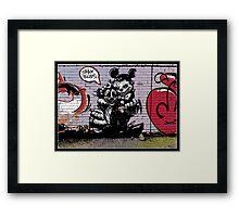 Crak tours- Street art from Bristol Framed Print