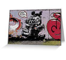 Crak tours- Street art from Bristol Greeting Card