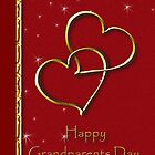 Grandparents Day Two Gold Hearts by jkartlife