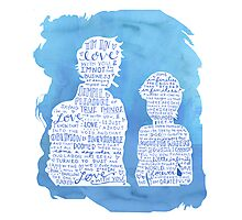 The Fault in Our Stars- Quotes Photographic Print