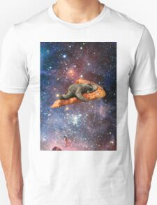 Pizza Sloth In Space Unisex T-Shirt