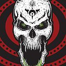 Psychosolution-pyschedelic skull by ARTmuffin