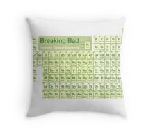 Breaking Bad periodic table Throw Pillow