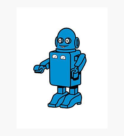 Robot funny cool design funny cartoon Photographic Print