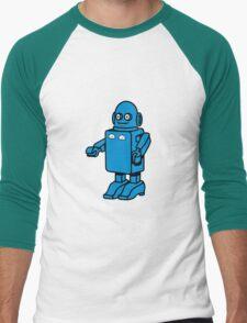 Robot funny cool design funny cartoon Men's Baseball ¾ T-Shirt