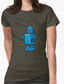 Robot funny cool design funny cartoon Womens Fitted T-Shirt