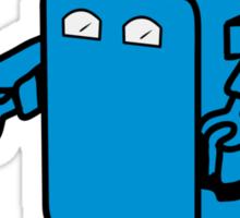 Robot funny cool design funny cartoon Sticker