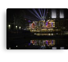 Colours in the night Canvas Print