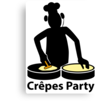 Crepes party Canvas Print