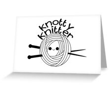 Knotty Knitter Greeting Card