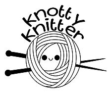 Knotty Knitter Photographic Print