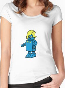 Robot funny cool design woman funny comic Women's Fitted Scoop T-Shirt