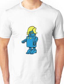Robot funny cool design woman funny comic Unisex T-Shirt