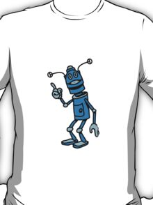 Robot funny cool attention fun comic T-Shirt