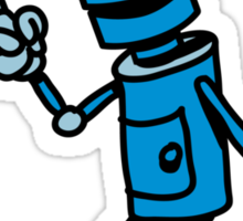 Robot funny cool attention fun comic Sticker