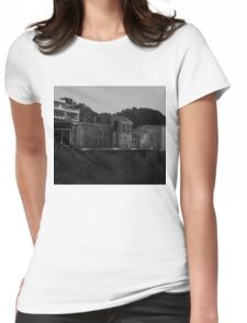 the train at noon Womens Fitted T-Shirt