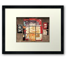 Puzzle painting Separated Couples Framed Print