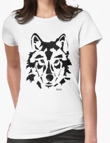 RAW WOLF STENCIL TEE Womens Fitted T-Shirt