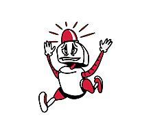 Robot panic funny cool alarm funny comic Photographic Print