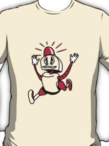 Robot panic funny cool alarm funny comic T-Shirt