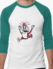 Robot panic funny cool alarm funny comic Men's Baseball ¾ T-Shirt