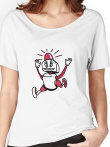 Robot panic funny cool alarm funny comic Women's Relaxed Fit T-Shirt