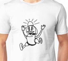 Robot panic funny cool alarm funny comic Unisex T-Shirt