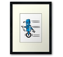 Robot monster funny cool fast funny comic Framed Print