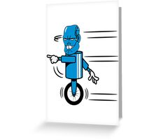 Robot monster funny cool fast funny comic Greeting Card