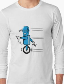 Robot monster funny cool fast funny comic Long Sleeve T-Shirt