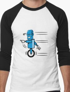 Robot monster funny cool fast funny comic Men's Baseball ¾ T-Shirt