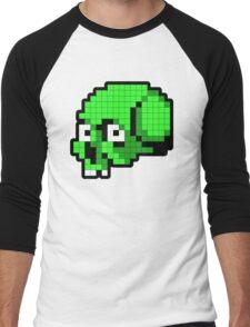 8 Bit Skull - Green Men's Baseball ¾ T-Shirt