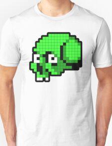 8 Bit Skull - Green Unisex T-Shirt