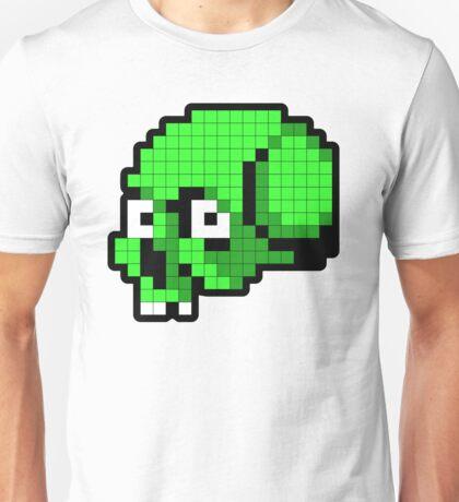 8 Bit Skull - Green T-Shirt